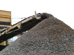 Photo of aggregates being processed